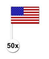50 zwaaivlaggetjes amerikaanse vlag