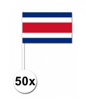 50 zwaaivlaggetjes costa ricaanse vlag