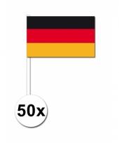 50 zwaaivlaggetjes duitse vlag