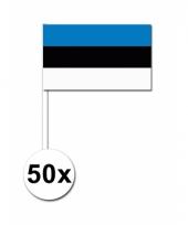 50 zwaaivlaggetjes estlandse vlag