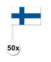 50 zwaaivlaggetjes finse vlag