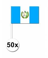 50 zwaaivlaggetjes guatemala vlag