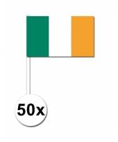 50 zwaaivlaggetjes ierse vlag