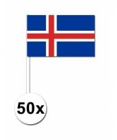 50 zwaaivlaggetjes ijslandse vlag