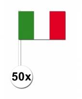 50 zwaaivlaggetjes italiaanse vlag