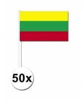 50 zwaaivlaggetjes litouwse vlag
