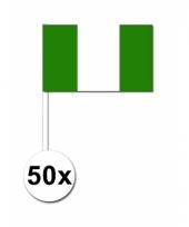 50 zwaaivlaggetjes nigeriaanse vlag