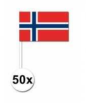 50 zwaaivlaggetjes noorweegse vlag