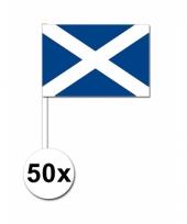 50 zwaaivlaggetjes schotse vlag