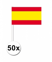 50 zwaaivlaggetjes spaanse vlag