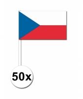 50 zwaaivlaggetjes tsjechische vlag