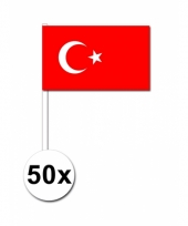 50 zwaaivlaggetjes turkse vlag