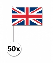 50 zwaaivlaggetjes union jack vlag