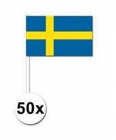 50 zwaaivlaggetjes zweedse vlag