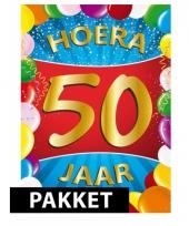 50ste verjaardag pakket gekleurd
