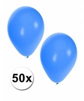 50x blauwe party ballonnen