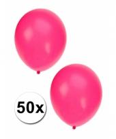 50x roze party ballonnen