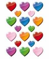 54x hartjes stickertjes voor kinderen