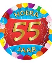 55 jaar verjaardag party viltjes