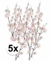 5x appelbloesem kunst tak roze84 cm