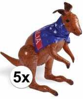 5x opblaas aussie kangoeroe 70 cm