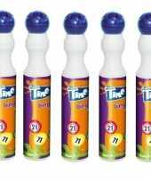 5x ronde blauwe stift marker voor bingo 43 ml