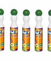 5x ronde groene stift marker voor bingo 43 ml