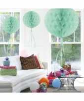 5x stuks decoratiebollen mint 30 cm