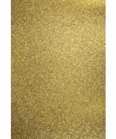 5x stuks gouden hobbykarton met glitters