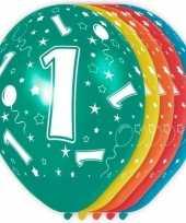 5x verjaardag 1 jaar heliumballonnen 30 cm