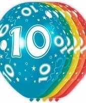 5x verjaardag 10 jaar heliumballonnen 30 cm