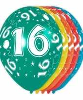 5x verjaardag 16 jaar heliumballonnen 30 cm