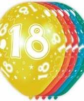 5x verjaardag 18 jaar heliumballonnen 30 cm