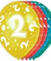 5x verjaardag 2 jaar heliumballonnen 30 cm