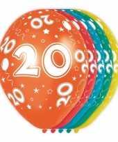 5x verjaardag 20 jaar heliumballonnen 30 cm