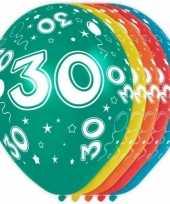 5x verjaardag 30 jaar heliumballonnen 30 cm