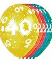 5x verjaardag 40 jaar heliumballonnen 30 cm