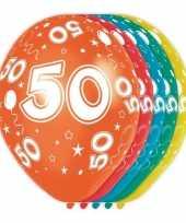 5x verjaardag 50 jaar heliumballonnen 30 cm