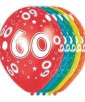 5x verjaardag 60 jaar heliumballonnen 30 cm