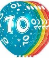 5x verjaardag 70 jaar heliumballonnen 30 cm
