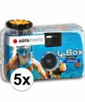 5x wergwerpcameras fototoestellen waterdicht 27 kleurenfotos