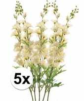 5x witte ridderspoor kunstbloem 70 cm