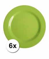 6 groene camping bordjes 25 cm