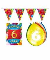 6 jarige jaar feest versiering setje 10113408
