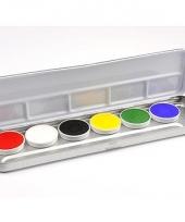 6 kleurige schmink palet
