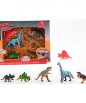 6 soft plastic dinosaurussen