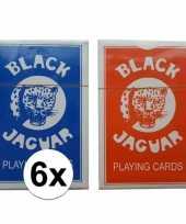 6 stuks kaart spellen