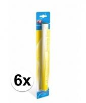 6 supporters fakkels geel 36 cm 60 sec