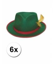 6 tiroler hoeden groen