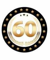 60 geworden bierviltjes zwart met goud